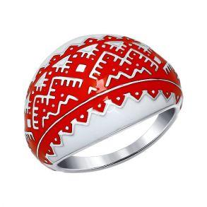 Кольцо из серебра с эмалью 94011168 SOKOLOV