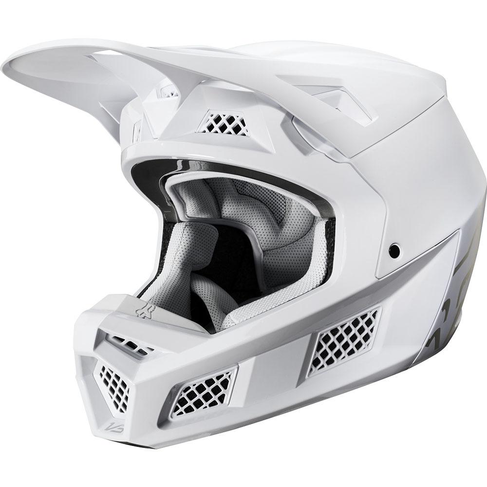 Fox - 2020 V3 Solids White/Silver шлем, бело-серебристый