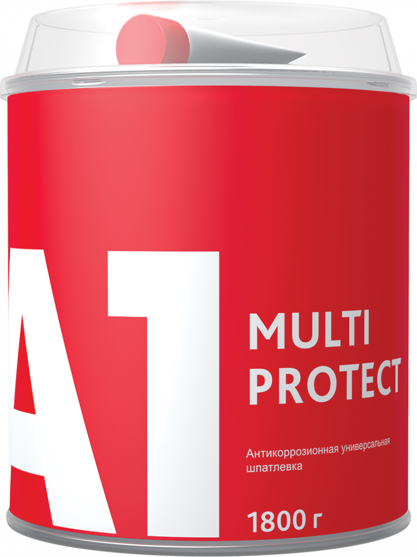 A1 MULTI PROTECT Антикоррозионная универсальная шпатлевка 1,8кг.