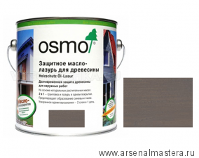 Защитное масло-лазурь для древесины для наружных работ OSMO Holzschutz Ol-Lasur 905 Патина 2,5 л