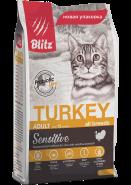 Blitz Adult Cats сухой корм для взрослых кошек «Индейка» 2 кг