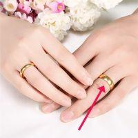 Позолоченное обручальное кольцо 5 мм (справа)