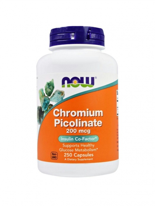Пиколинат хрома 200 мкг от Now Foods 250 капсул