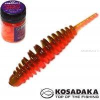 Мягкие приманки Kosadaka Leech 42 мм / упаковка 10 шт / Сыр / цвет: DGR