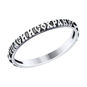 Кольцо из чернёного серебра 95010105 SOKOLOV