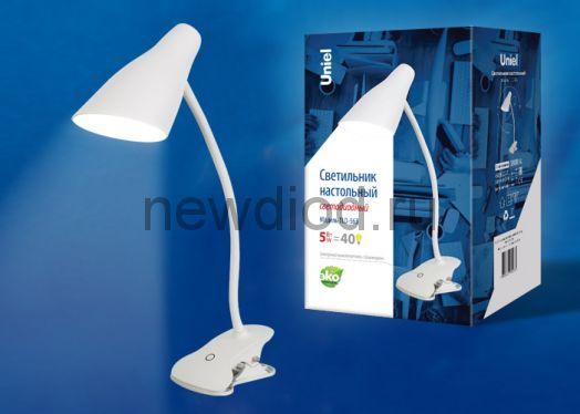 Светильник настольный светодиодный TLD-563 5W 360Лм 4500K сенсорный диммер Белый Uniel