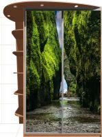 Наклейка на шкаф - Водопад впереди | магазин Интерьерные наклейки