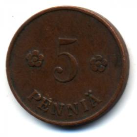 Финляндия 5 пенни 1921