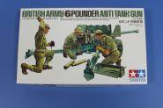 Английская шестифунтовая противотанковая пушка с тремя фигурами артиллеристов. (Очень давно не выпускался)