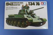 Советский танк Т34/76 (с 2-мя наборами катков) с 2 фигурами танкистов