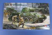 """Советский танк Т34/76 """"ЧТЗ"""", 2 фигуры и пулемет"""