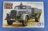 Немецкий 3-х тонный грузовик  (Opel Blitz), 2 фигуры, (4 вар-та декалей), бочки и канистры
