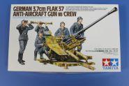 Немецкая зенитка 3.7cm FLAK37, с пятью фигурами