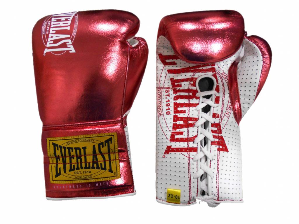 Перчатки Everlast  боевые 1910 Classic 10oz красные, артикул P00001902