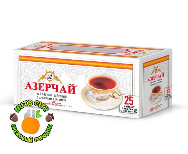 Азерчай черный с ароматом бергамота 25 пакетиков