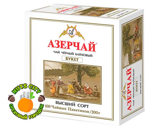 Азерчай черный байховый 100 пакетиков
