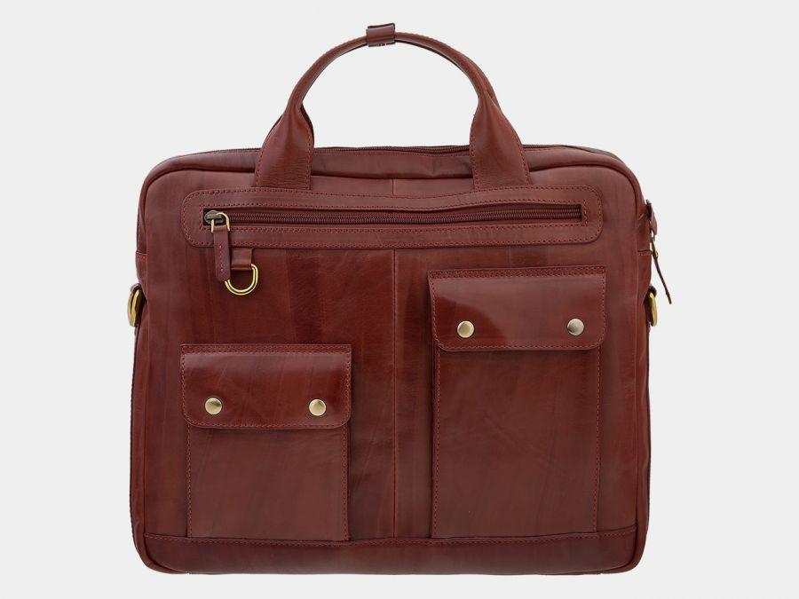 Сумка-портфель из натуральной кожи ALEXANDER-TS «PF0019 Cognac»