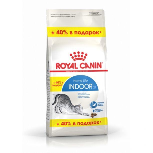 Корм сухой Royal Canin Indoor 27 для кошек с птицей 0.4+0,16кг
