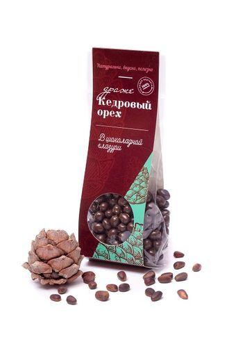 Кедровый орех в шоколадной глазури 100г