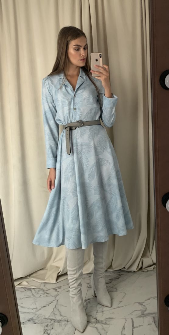 s1511 Платье голубое с пуговичками