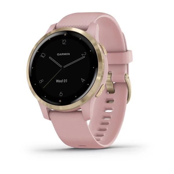 Часы Garmin Vivoactive 4s розовые с золотистым безелем