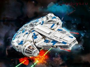 Конструктор Lari  Звездные войны Сокол Тысячелетия на Дуге Кесселя 10915 (75212) 1449 дет