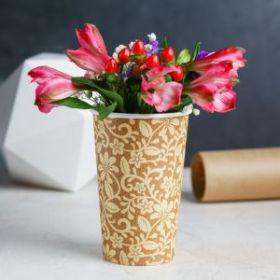 Стаканчик для цветов «Крафт» 13,5 х 9 см