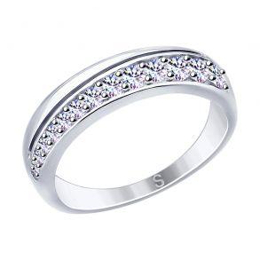 Кольцо из серебра с фианитами 94012611 SOKOLOV