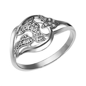 Кольцо из серебра с фианитами 94011006 SOKOLOV