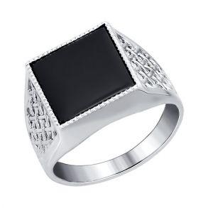 Печатка из серебра с ониксом 94010963 SOKOLOV