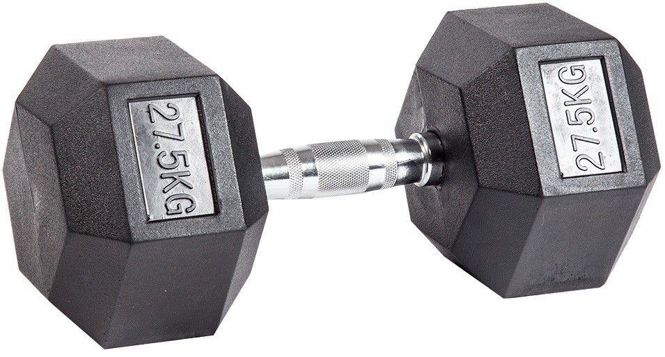 Гантель гексагональная обрезиненная ZSO, 27,5 кг