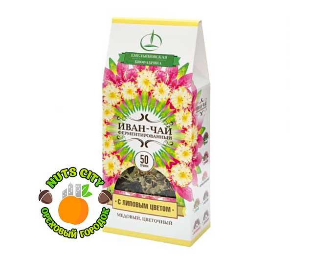 Иван чай с липовым цветом 50гр