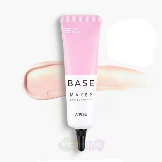 A'Pieu База под макияж с экстрактом граната Base Maker Pink SPF30 PA++, 20 г
