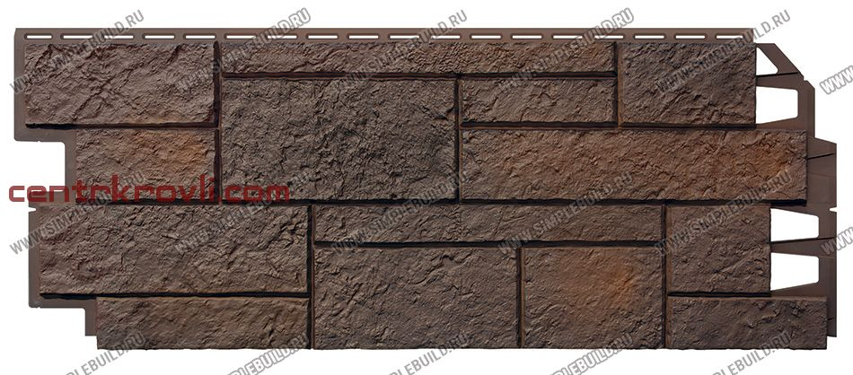 Фасадная панель «VOX», Solid Sandstone Dark Brown 1000*420
