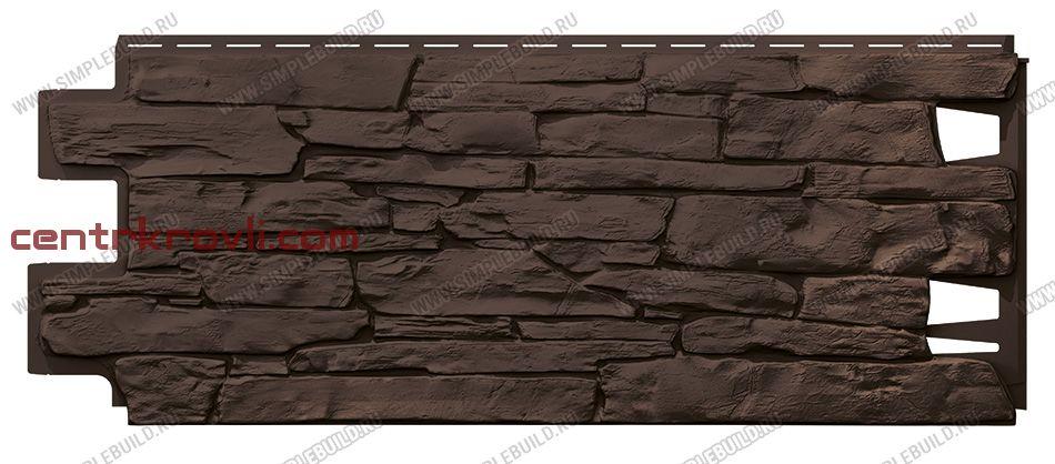 Фасадная панель «VOX», Vilo Stone тёмно-коричневый 1000*420