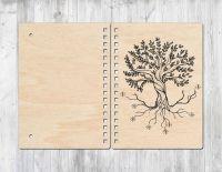 Блокнот с деревянной обложкой дерево