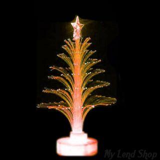 Светящаяся LED елочка, 32 см, Цвет: Оранжевый