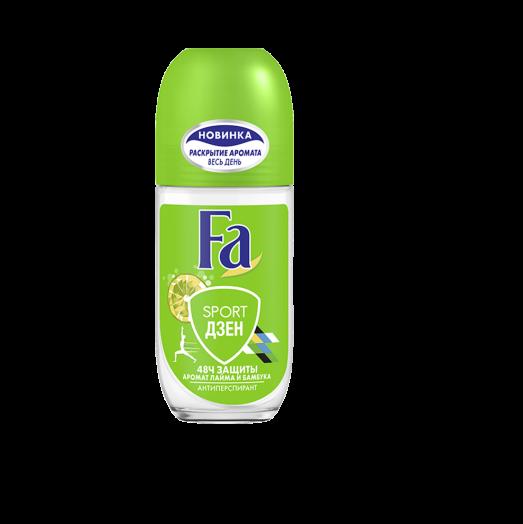 Дезодорант Fa 50мл Roll Sport Дзен аромат лайма и бамбука