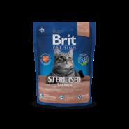 BRIT Premium Sterilised Лосось, курица с куриной печенью для стерилизованных кошек и кастрированных котов (1,5кг)