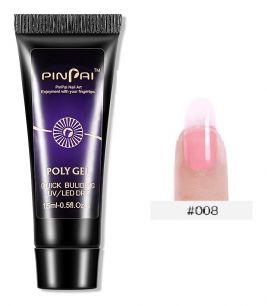 Полигель Pinpai 15 мл #008 Transparent pink