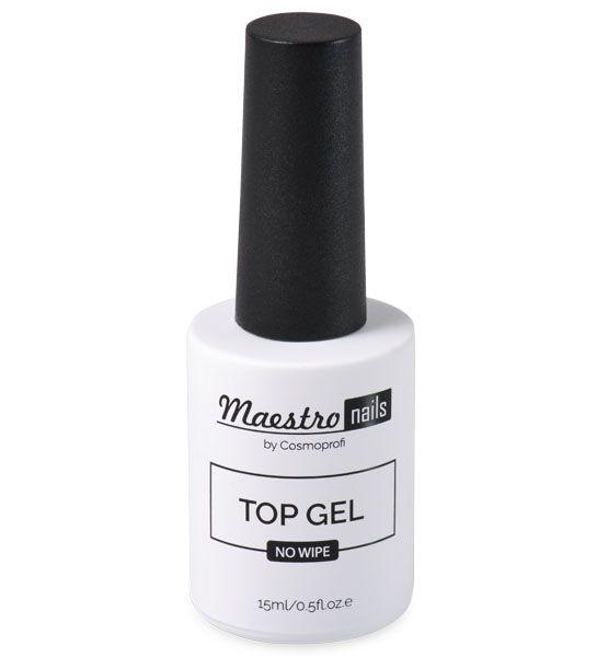 Топ без липкого слоя Maestro nails Top gel - 15 ml (продукция компании Космопрофи)