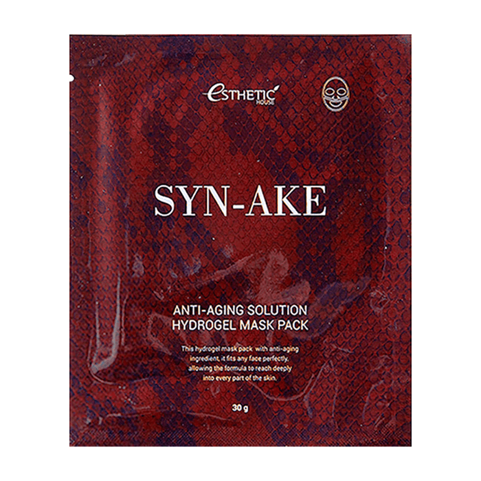 Гидрогелевая маска Esthetic House SYN-AKE ANTI-AGING SOLUTION HYDROGEL MASK PACK 1 шт