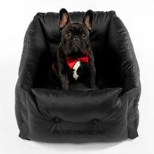 Автокресло для собак мелких пород (черное)