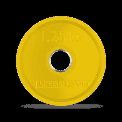Диск олимпийский, 1,25 кг, желтый, Turbogym