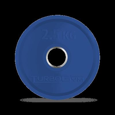 Диск олимпийский, 2,5 кг, синий, Turbogym