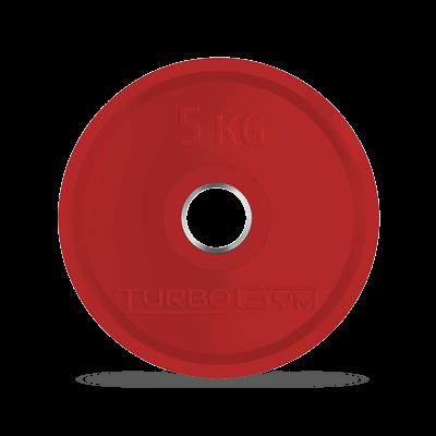 Диск олимпийский, 5 кг, красный, Turbogym