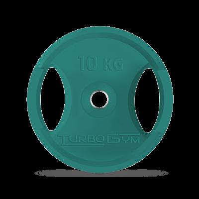 Диск олимпийский, 10 кг, зеленый, Turbogym