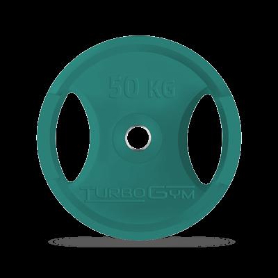 Диск олимпийский, 50 кг, зеленый, Turbogym