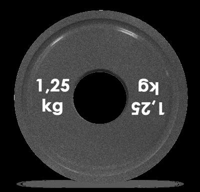 Диск стальной для пауэрлифтинга с полимерным покрытием, 1,25 кг, Turbogym