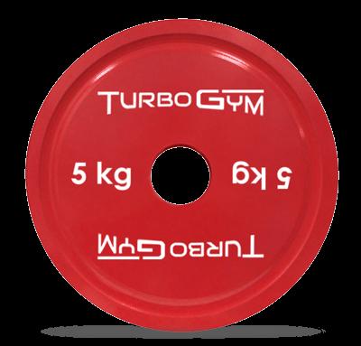 Диск стальной для пауэрлифтинга 5 кг Turbogym